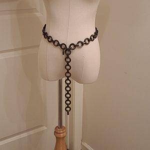 Vintage Yves Saint Laurent Metal Chain Belt